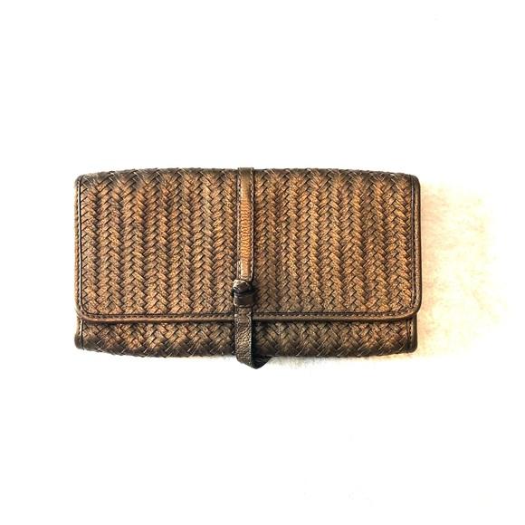 Banana Republic: clutch /wallet, bronze